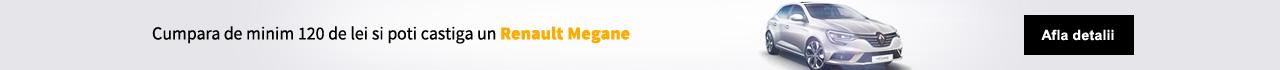 Cumparaturile de minim 120 Lei iti pot aduce un Renault Megane