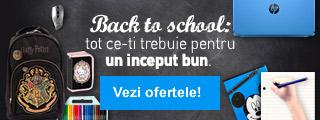 Back to School: tot ce-ti trebuie pentru un inceput bun. Descopera ofertele!