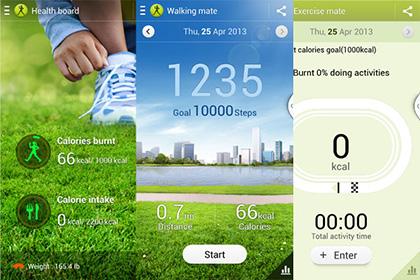 S Health Galaxy S4
